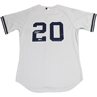 Jorge Posada Signed Yankees Authentic Away Grey Jersey (MLB Auth)