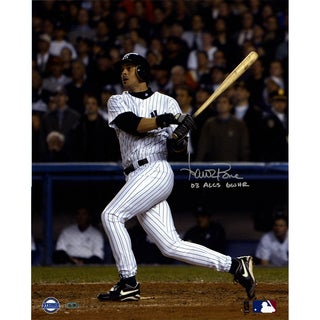 Aaron Boone Signed 2003 ALCS GW HR vs Red Sox Swing 16X20 Vertical Photo w/ 03 GW HR ALCS Insc