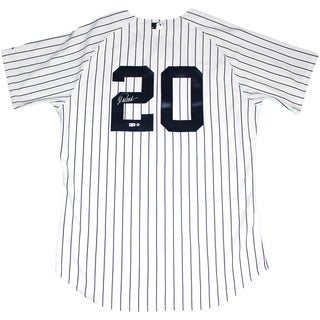 Jorge Posada Signed Posada Retirement Logo Authentic Home Yankees Jersey (MLB Auth)