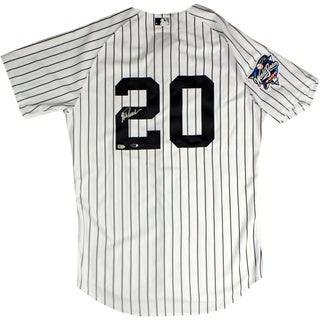 Jorge Posada Signed New York Yankees Authentic Pinstripe Jersey w/ 2000 Patch ( MLB Auth)