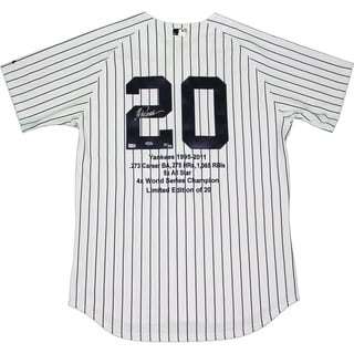 Jorge Posada Signed New York Yankees Authentic Home Jersey w/ Embroidered Stats (LE/20)(MLB Auth)
