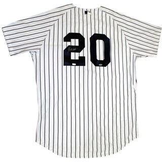 Jorge Posada Signed New York Yankees Authentic Home Jersey (Signed in Silver) (MLB Auth)