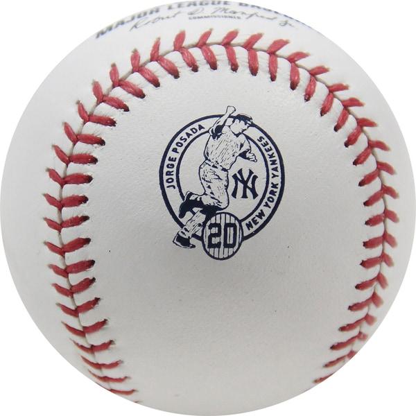 Jorge Posada Retirement Logo Official Baseball