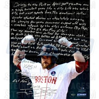 Jonny Gomes Signed 16x20 Story Photo