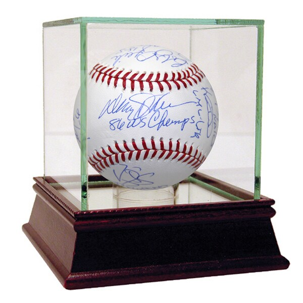 1986 NY Mets 12 Signature Inscribed MLB Baseball (MLB Auth)