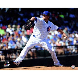 Jon Lester Unsigned Chicago Cubs 16x20 Photograph (AARU143)