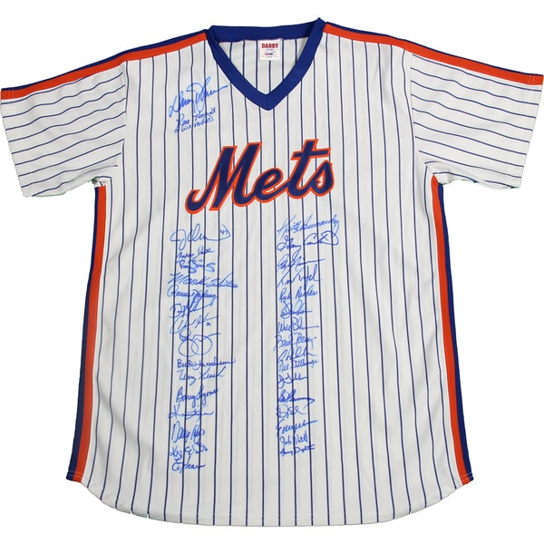 1986 New York Mets Team Signed Jersey w/ Gary Carter (35 Signatures) (PSA/DNA Auth)