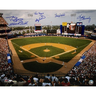 1986 New York Mets Six Signature 16x20 Shea Stadium Signed Photo w/ Gary Carter (FRAM16X20NEWC)