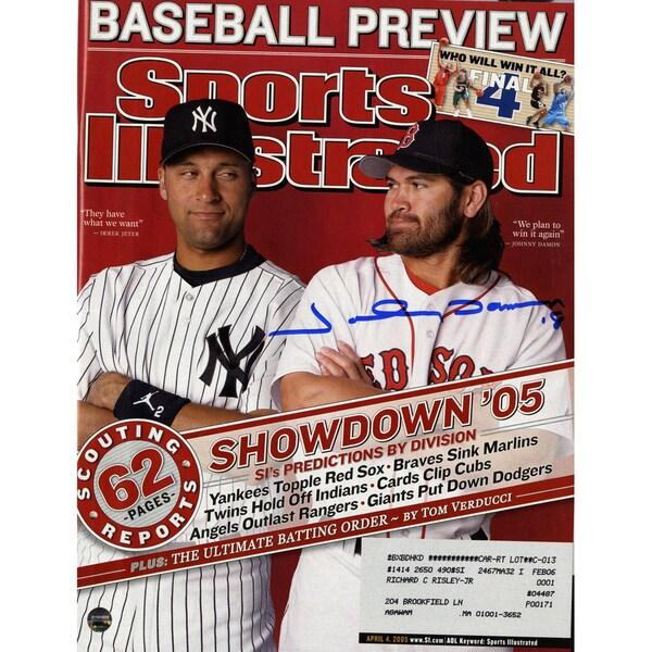 Johnny Damon Signed 4/4/05 Sports Illustrated Magazine