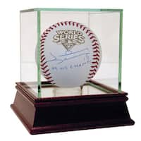 Johnny Damon Signed 2009 WS Baseball w/ 09 WS Champs Insc ( MLB Auth)
