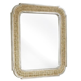 Progressive Belize Banana Leaf Rattan Woven Mirror
