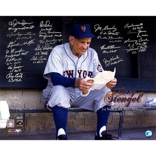 1962 New York Mets Multi-Signed Casey Stengel 16x20 Photo (20 Sigs) (No Joe Christopher)