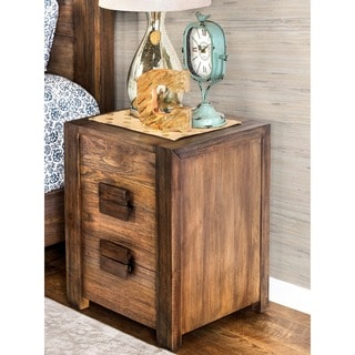 Furniture of America Kailee Rustic Natural Tone 2-drawer Nightstand