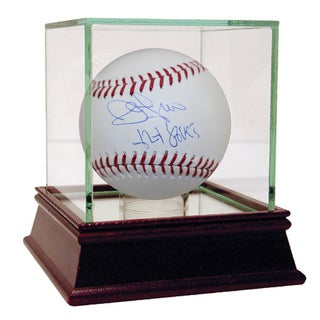 "John Franco MLB Baseball w/"" 424 Saves Insc"" (MLB Auth)"