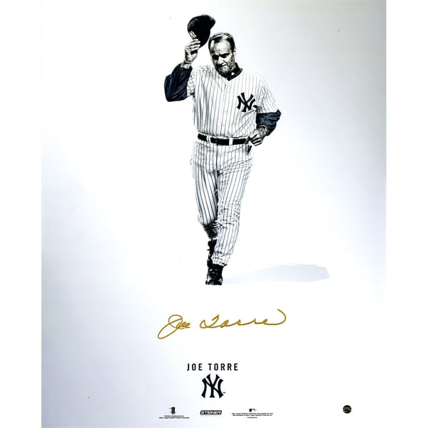 Joe Torre Signed Steiner Platinum Collection 16x20 Photo