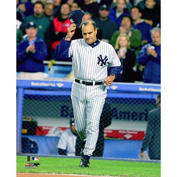 Joe Torre Signed Cap Tip Vertical 8x10 Photo (MLB Auth)