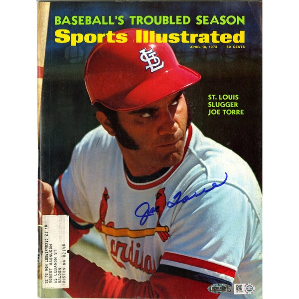 Joe Torre  Signed Sports Illustrated Magazine 4/10/1972