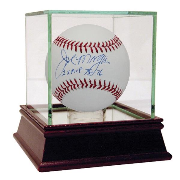 "Joe Morgan Signed MLB Baseball w/ ""2x MVP 75-76"" insc"