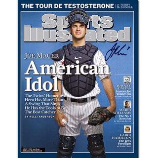 Joe Mauer Signed American Idol Sports Illustrated 16x20 Photo ( MLB Auth)