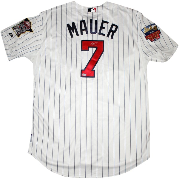 Joe Mauer Signed Minnesota Twins Authentic Home Jersey w/ All Star Game Patch ( MLB Auth)