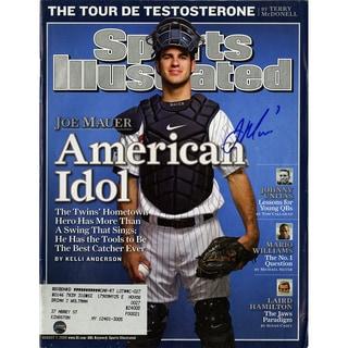 Joe Mauer Signed 8/7/2006 Sports Illustrated Magazine