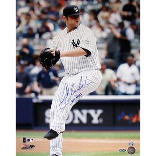 "Joba Chamberlain Yankee Pinstripe Jersey Wind Up Vertical 16x20 Photo w/ ""Joba Rules"" Insc. (MLB Auth)"
