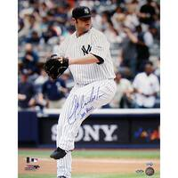 "Joba Chamberlain Yankee Pinstripe Jersey Wind Up Vertical 16x20 Photo w/ ""Joba Rules"" Insc. (MLB Auth)"
