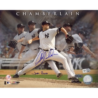 Joba Chamberlain Yankee Pinstripe Jersey Wind Up Vertical