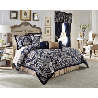 queen bedroom comforter sets. Croscill Imperial Chenille Jacquard Woven Damask 4 piece Comforter Set  Option Queen Size Sets For Less Overstock com