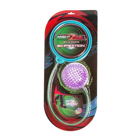 Toysmith Nightzone Skipsation Skip Ball - Purple