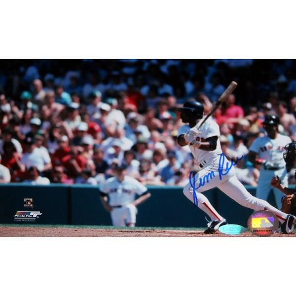 Jim Rice Watching Flight Of His Ball 6x10 Photo