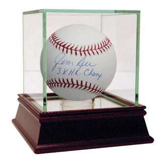Jim Rice Signed MLB Baseball w/ 3x HR Champ insc ( MLB Auth)