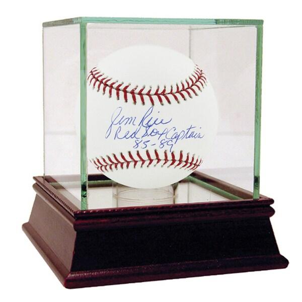 "Jim Rice Signed MLB Baseball w/ ""Red Sox Captain 85-89"" insc"
