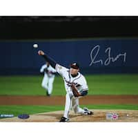 Greg Maddux Signed Braves 1995 WS First Pitch 16x20 Photo (MLB Auth)