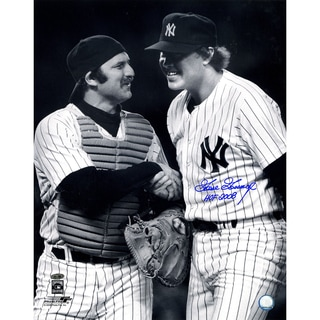 Goose Gossage Signed w/ HOF 2008 Inscrip. B&W with Munson 16x20 photo