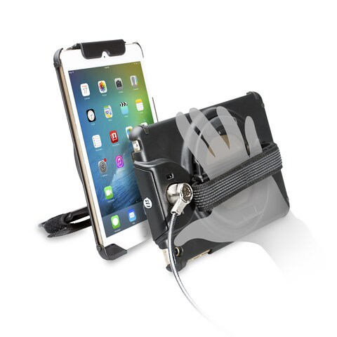 CTA Digital Anti-Theft Case with Built-In Grip Stand for iPad mini