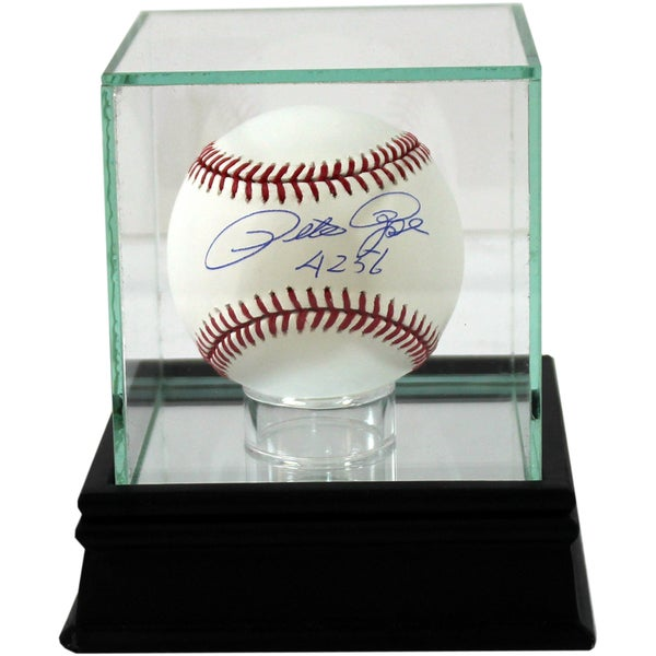 Glass Single Baseball Case w/Black Base (o)