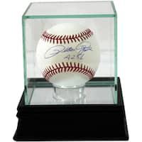 Glass Single Baseball Case w/Black Base (o)