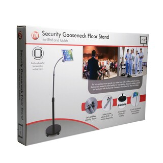 CTA Digital Security Gooseneck Floor Stand for iPad and Tablets