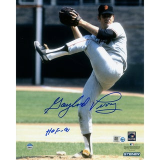 "Gaylord Perry Signed Giants Pitching w/ HOF"" Insc. (MLB Auth)"