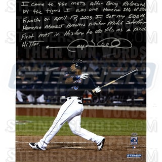 Gary Sheffield Signed New York Mets 500th Career HR 16x20 Story Photo