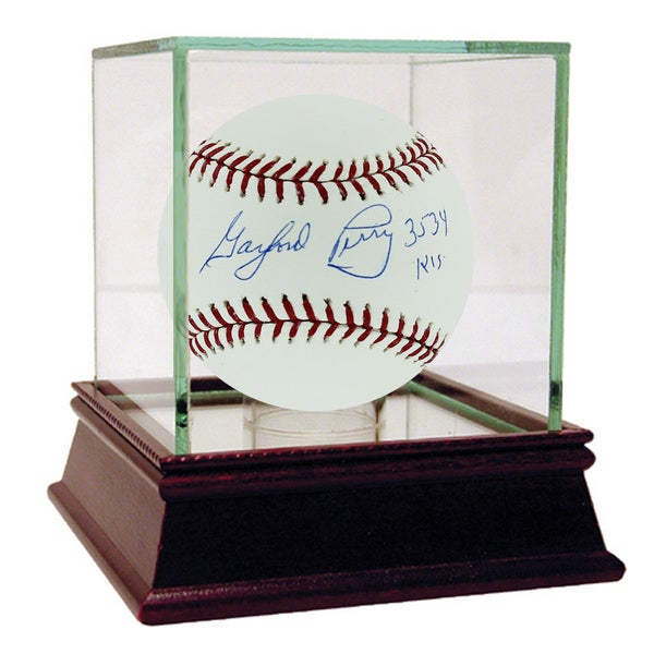 "Gaylord Perry MLB Baseball w/"" 3,534 K's"" Insc (MLB Auth)"