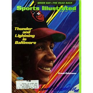 "Frank Robinson Signed 10/6/69 Sports Illustrated Magazine "" HOF"" Insc."