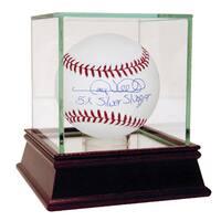 """Gary Sheffield Signed MLB Baseball w/ """"5x Silver Slugger"""" insc"""