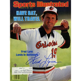 Fred Lynn Signed 3/18/85 Sports Illustrated Magazine