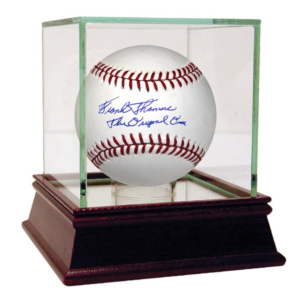 "Frank Thomas Signed MLB Baseball W/ ""62 Original Casey Met"" Insc."