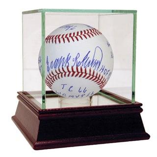 Frank Robinson Signed MLB Baseball w/ 11 Career Stat Inscriptions