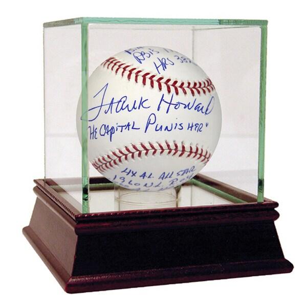 "Frank Howard Signed ""The Capital Punisher"" Multi-Stat Insc Baseball"