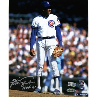 Fergie Jenkins Cubs stands on the mound 8x10 Photo w/ HOF insc (MLB Auth)