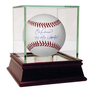 Eric Davis Signed MLB Baseball w/ 90 w/s Champs! Insc (MLB Auth)